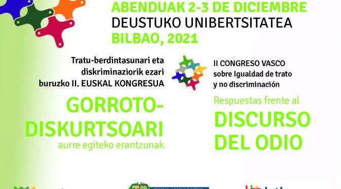 Tratu-berdintasunari eta Diskriminaziorik Ezari buruzko II. Euskal Kongresua